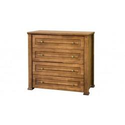 Комод 4Ш деревянный Миллениум