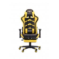 Кресло VR Racer Dexter Megatron черный/желтый